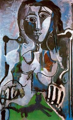 Femme au chat assise dans un fauteuil, 1964 | Pablo Picasso