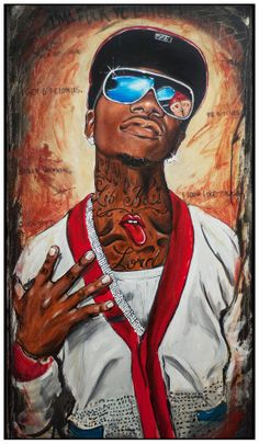 JEREMY WORST Lil B The Based God Original Artwork by JeremyWorst, $50.00