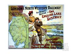 London and North Western Railway Poster Giclee Print at Art.com