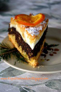 Kopalnia Smaków...: Kruche ciasto z makiem i budyniową pianką