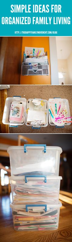 a great way to organize all the artwork and papers that come home from school