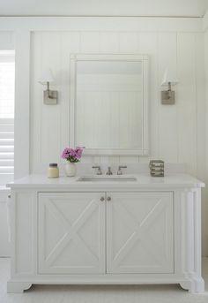 Bathroom milwork. Bathroom milwork. Bathroom milwork ideas. Bathroom milwork height. Bathroom wainscoting milwork #Bathroom #milwork #wainscoting Brooks and Falotico Associates, Inc.