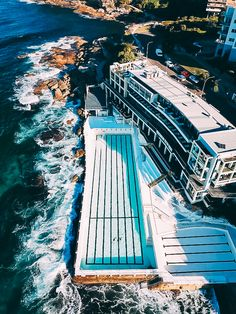 Icebergs at Bondi Beach taken with a drone Bondi Icebergs, Bondi Beach Sydney, Australia Travel Guide, Fraser Island, Airlie Beach, Great Barrier Reef, Western Australia, East Coast, Day Trips
