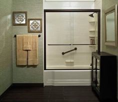 It can only take a day to create the bathroom you've always wanted. Bath Fitter, Guest Bathrooms, Guest Rooms, Best Bathroom Designs, Bath Remodel, French Door Refrigerator, Amazing Bathrooms, Bathroom Medicine Cabinet, Kitchen Appliances