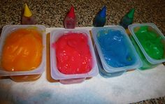 Homemade finger paint! Non-toxic and uses ingredients I always have on hand in the kitchen! :)