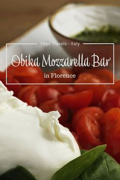 Food travels in Italy. Obika Mozzarella Bar in Florence Italy. Places to eat in Florence Italy. Italian food specialties. Restaurants in Florence.