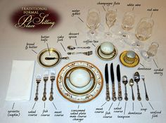 Traditional Table Setting Rules Don't need 5 forks... but LOVE 5 #WINE GLASSES !! (img http://nbc.clientmediaserver.com/) #food