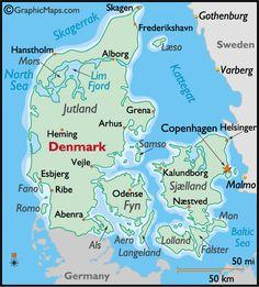 -map-denmark my family is from Jutland, Roskilde, Ballerup and Copenhagen.