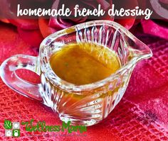 I love this healthy, homemade french dressing. One of my favorite ways to use up produce that's threatening to spoil is to chop up veggies, throw them in a salad, and toss with this flavorful french dressing - it pulls everything together so well! Milk Recipes, Paleo Recipes, Real Food Recipes, Cooking Recipes, Paleo Sauces, Homemade French Dressing, Homemade French Onion Soup, Salad Dressing Recipes, Salad Dressings
