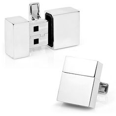 Look what I found at UncommonGoods: Silver USB Cufflinks for $100 #uncommongoods