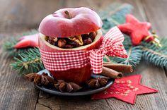 Обои Праздники Новый год Яблоки Корица Орехи Бантик Еда Картинка #399885 Скачать