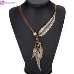 sameno New Girl Women Alloy Feather Antique Vintage Time Necklace Sweater Chain Pendant Jewelry *** Very nice of your presence to have dropped by to see our picture. (This is an affiliate link) Leather Jewelry, Boho Jewelry, Pendant Jewelry, Jewelry Gifts, Beaded Jewelry, Jewelry Accessories, Jewelry Necklaces, Handmade Jewelry, Fashion Jewelry