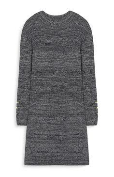 Primark - Robe-pull grise côtelée