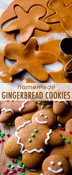 This is the best recipe for gingerbread men! Easy to mix together, taste unbelie… This is the best recipe for gingerbread men! Easy to mix together, taste unbelievable, and fun to decorate! Gingerbread cookie recipe on sallysbakingaddic… Chocolate Cookie Recipes, Easy Cookie Recipes, Cookie Desserts, Holiday Desserts, Holiday Baking, Holiday Treats, Yummy Recipes, Baking Cookies, Sweets Recipes