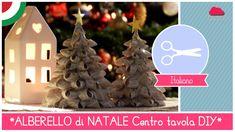 Tutorial DIY Natale: Centrotavola Natalizio ALBERELLI di stoffa Bellissi...