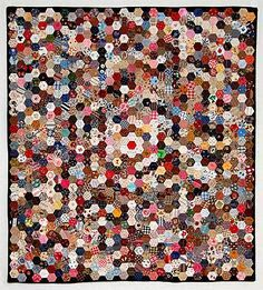 Image result for rainbow hexagon quilt