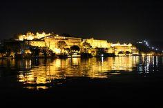 City palace abutting the lake