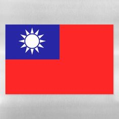 Dry Erase Magnetic Sheet flag of Taiwan National Symbols, National Flag, Taiwan Flag, Political Events, Dry Erase Markers, Photo Magnets, Cute Gifts, Flags, Party Supplies