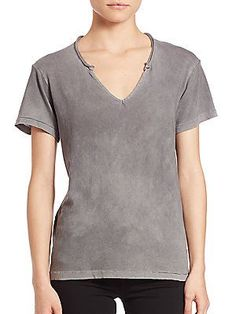 Cotton Citizen Supima Cotton Marbella V-Neck Top