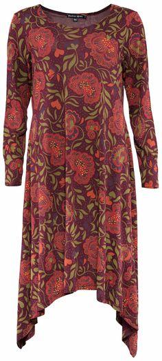 Weihnachten 2014 -Das Kleid Tuvstarr aus Viskose ist mit Trollrosen verziert und…