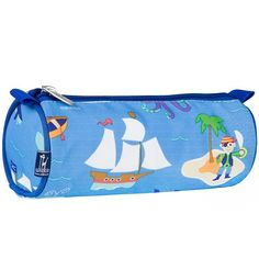 Store essential school stationery in this cool Pirate Pencil Case. Made from durable scotch guarded canvas, it features an easy-to-hand zip with pulley that will make getting to their stationery quick and easy.