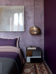 Excellent No Cost purple bedroom ideas Thoughts As it is often good to start out the revolutionary calendar year with very simple room refreshes all over the . lila Excellent No Cost purple bedroom ideas Thoughts Purple Bedroom Walls, Dark Purple Bedrooms, Purple Bedroom Design, Purple Interior, Gray Bedroom, Room Interior, Luxury Interior, Bedroom Ideas Purple, Purple Wall Decor