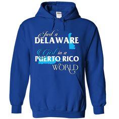 A DELAWARE-PUERTO RICO girl Blue02 - T-Shirt, Hoodie, Sweatshirt