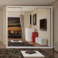 Guarda-roupa Casal Com Espelho 3 Portas Flórida Siena - R$ 959,90 em Mercado Livre