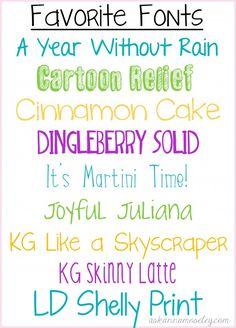 Favorite Fonts Ask Anna Lettering Fonts Fancy Fonts Free Font