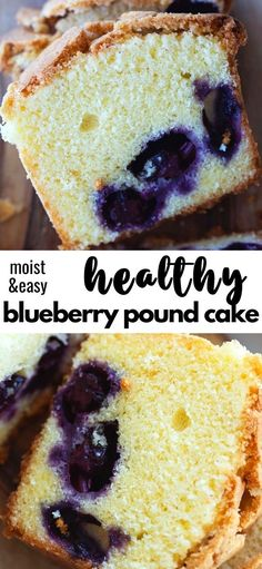 Baking Recipes, Dessert Recipes, Baking Ideas, Sweet Desserts, Delicious Desserts, Dessert Bars, Fruit Dessert, Blueberry Pound Cake, Best Sweets