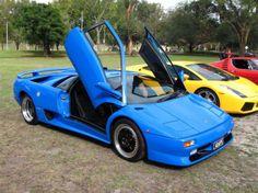 Image: blue cars...