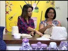 Mulher.com 25/09/2012 Carmen Freire - Cesto em Crochê endurecido 01