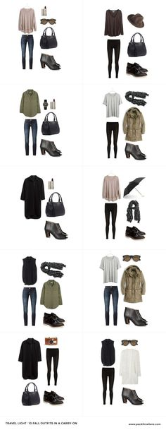 Fall travel outfits to go along with my Fall travel capsule packing list.