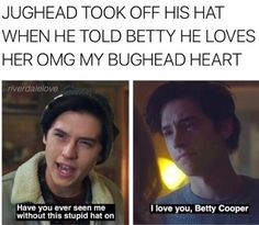 I love how they say jughead is the best on Riverdale- he was the best in Archie Comics- I haven't even seen Riverdale but no du he's the best Kj Apa Riverdale, Riverdale Quotes, Riverdale Archie, Riverdale Funny, Zack E Cold, The Fosters, Film Anime, Riverdale Cole Sprouse, The Ancient Magus Bride
