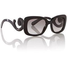 Prada Sunglasses Ladies PR27OS Minimal Baroque Black Sunglasses ...
