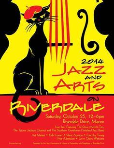 Something fun to do next weekend: Jazz & Arts on Riverdale. Oct 25th. Macon, GA