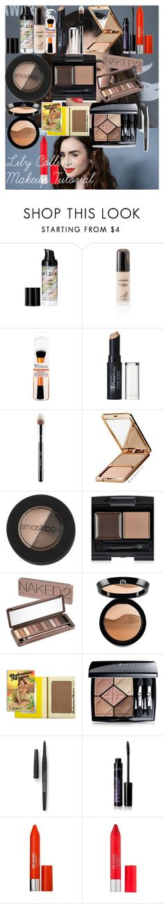 """Lily Collins Makeup Tutorial"" by oroartye-1 on Polyvore featuring beauty, Ultimo, Stila, Revlon, Sigma, Napoleon Perdis, Smashbox, Forever 21, Urban Decay and Giorgio Armani"