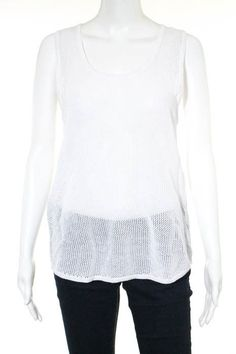 987bffdc3e9549 Generation Love White Cotton Knit Sleeveless Tank Top Size Medium New  124   fashion  clothing  shoes  accessories  womensclothing  tops (ebay link)