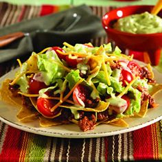 Beef Taco Salad with Guacamole Dressing: Learn more about Mexico, its business, culture and food by joining ANZMEX http://www.anzmex.org.au OR like our facebook page http://www.facebook.com/ANZMEX