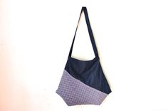 japanese large tote bag, large cross body bag, shoulder bag, kimono bag, hobo bag by UMEHARAKABAN on Etsy
