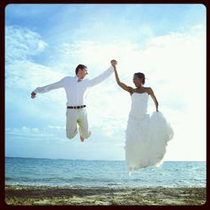 My fav photo from our wedding in Whitehouse, Jamaica. We were floating...