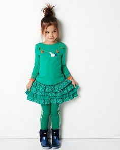 Mim Pi Lovely Green Unicorn And Tassel Top *Preorder*