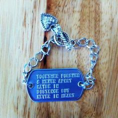 Cute Charm Bracelets for military wives :) Love the saying ont this bracelet! i will be using this :)