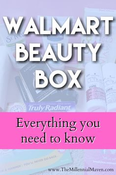 Everything you need to know about the Walmart Beauty Box. What kinds of things do you get in there? Are there always makeup items included? Is it worth the money? Click through to read and find out.