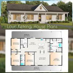 4 Bedroom House Plans, Basement House Plans, Barn House Plans, Craftsman House Plans, New House Plans, Dream House Plans, Dream Houses, Square House Plans, Garage Plans