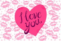 I love you lettering pink heart by on Creative Market Love U So Much, I Luv U, Say I Love You, Happy Wallpaper, Heart Wallpaper, Skull Wallpaper, True Love Images, Love Pictures, I Love You Lettering