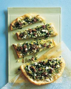 Flatbread Topped with Mint, Feta, and Lamb Recipe