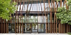 """""""La Mola: Hotel and Convention Center"""" in Terrasa, Barcelona, Spain by Arquitectos B720, Timber Cladding, Facade Design, Convention Centre, Ceiling Design, Innovation, Exterior, Barcelona Spain, Interior Design"""