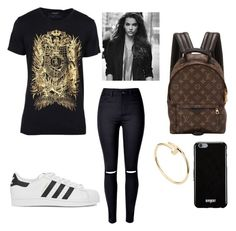 """School"" by zainpassed on Polyvore featuring moda, Balmain, WithChic, adidas Originals, Louis Vuitton, Cartier e Givenchy"