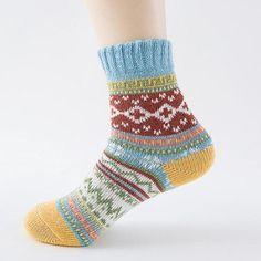Winter Autumn Warm Rabbit Hair Sock Womens Cashmere Wool Thick Warm Socks Winter Fashion Striped Socks For Christmas gift Winter Socks, Warm Socks, Thick Socks, Sierra Leone, Ghana, Georgia, Tube Socks, Pinup Art, Striped Socks